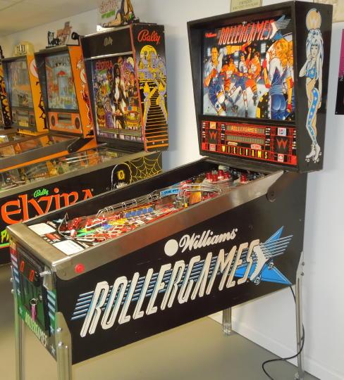 RollerGames Pinball FLYER Original 1990 NOS Artwork Roller Derby Games Williams