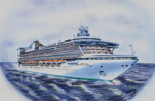 Jeffs Star Princess Cruise Page - Cruise ship drawings